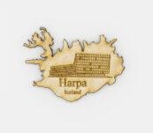 Viðarsegull -Harpan Reykjavík
