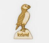 Viðarsegull -Lundi útskorinn